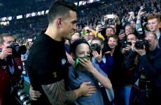 Sonny Bill Williams explains why he gave his RWC medal to a young fan