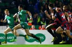 No Hallowe'en scare as Connacht continue brilliant Pro12 start against Edinburgh