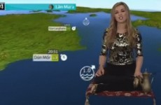 The TG4 weather presenter did the whole forecast on a magic carpet last night