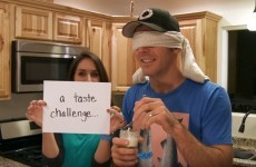 This wife used a blind taste test to reveal to her husband that a baby is on the way