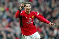 12 years ago today, a skinny Portuguese teenager scored his first goal for Man United