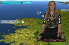 TG4's weather forecast was presented from a magic carpet last night