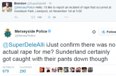 Police force in Twitter storm after engaging in 'rape banter' about a football match