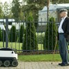 Would you want this small robot to deliver Tayto and Lucozade to you?