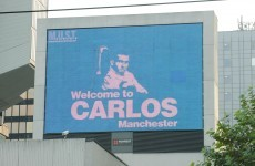 United fans taunt Tevez and City with new poster