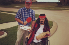 A Boston bombing amputee dressed as Forrest Gump's Lt. Dan and absolutely nailed it