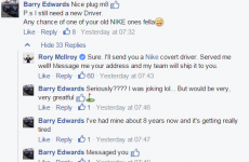 This chancer asked Rory McIlroy for his old golf club, and he responded