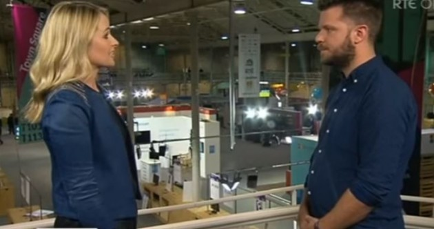 Watch: RTE News broadcast a pretty awkward interview with the web summit co-founder...