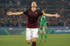 Bad news for Ireland as Edin Dzeko conjured his best performance of the season tonight