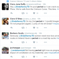 A lot of women are tweeting Enda about their periods - and he's cool with it