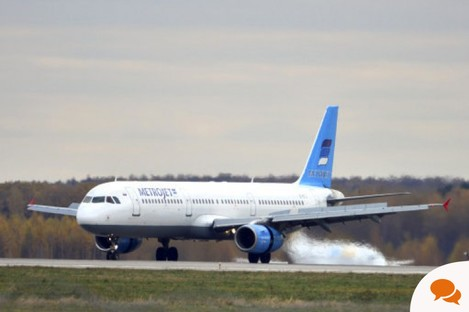 File photo of Russian airline Kogalymavia's Airbus A321.