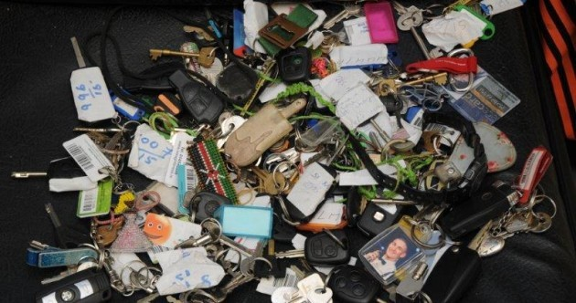 This picture of all of the car keys lost at Electric Picnic will give you palpitations