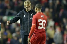 Jurgen Klopp reserved special praise for one Liverpool youngster after tonight's win