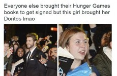 The girl with the Doritos was the true hero of last night's Hunger Games premiere... It's The Dredge