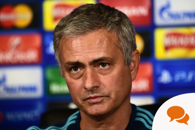 Jose Mourinho at a press conference this week.