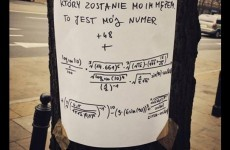 The internet has become obsessed with this romantic maths note found on a tree