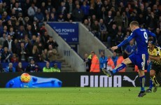 Jamie Vardy closes in on Ruud van Nistelrooy's record as Leicester go joint top