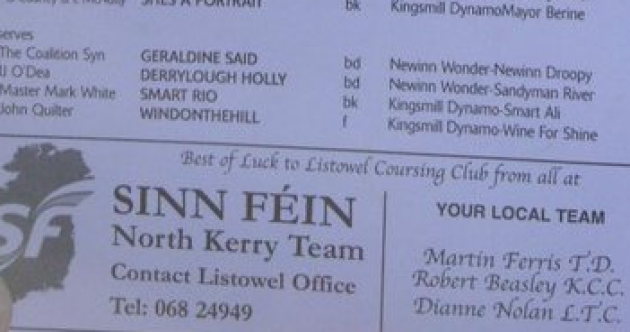 "Sinn Féin TD and councillors criticised for wishing ""best of luck"" to hare coursing group"