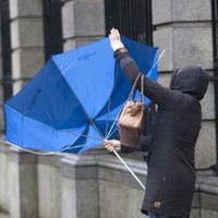There's a wind warning in place as gales hit 100 kph