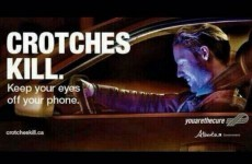A road safety officer wants you to take your eyes off your crotch