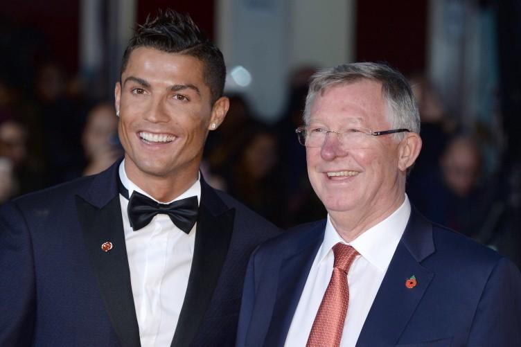 Ronaldo and Sir Alex Ferguson in London last night.