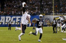 The Bears beat the Chargers with this ridiculous, one-handed TD catch