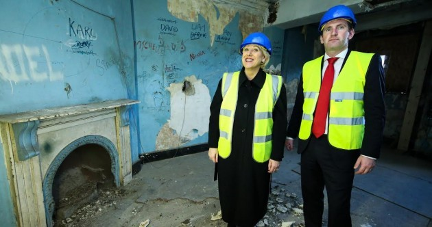 The 2016 ministers look surprisingly happy about their visit to a graffiti-filled room