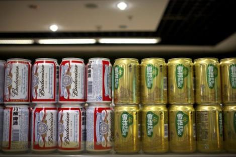 SABMiller and InBev brands in a Beijing supermarket