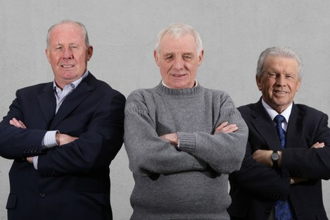 RTE's Liam Brady, Eamon Dunphy and John Giles.