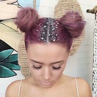 Glitter roots is the Christmas beauty trend that everyone is talking about