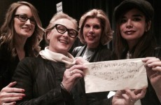 Here's the story behind this amazing photo of Meryl Streep supporting Irish women in theatre