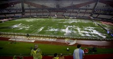 There are some great photos that show just why Argentina's clash with Brazil was postponed