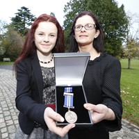 Girl (11) who saved her mother's life following attack by suckler cow honoured at Bravery Awards