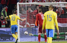Zlatan Ibrahimovic on target but Denmark's late away goal leaves tie finely poised