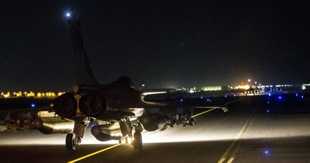 France has launched 'massive' airstrikes on Isis in Syria
