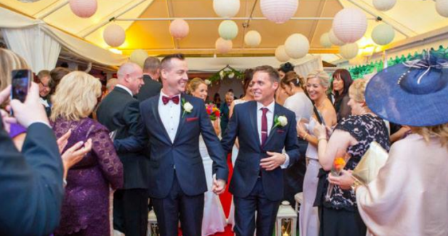 Wayne and DJ will be one of Ireland's first same-sex couples to get married later today