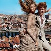 Oh, just Domhnall Gleeson shifting the face off Gigi Hadid in the latest Vogue