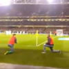 Sound man James McClean got out of the way so this fan could see Walters' penalty