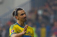 Effortless Zlatan free kick seals Sweden's spot at Euro 2016