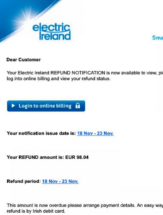 This is what ESB want you to do if you've received one of these scam emails