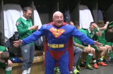 Ireland's kit man is looking for his Superman cape after losing it in Coppers