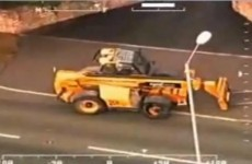 WATCH: Man goes on rampage in stolen JCB