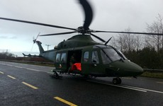 Woman airlifted to hospital after Mayo car crash