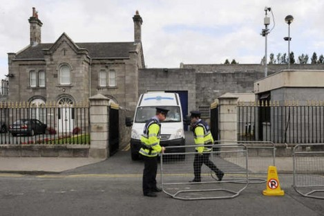 The gates of Arbour Hill prison