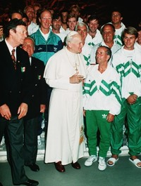 The day we talked football with Pope John Paul II at the Vatican
