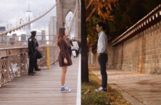 This couple have found an unusual way of dealing with a long-distance relationship