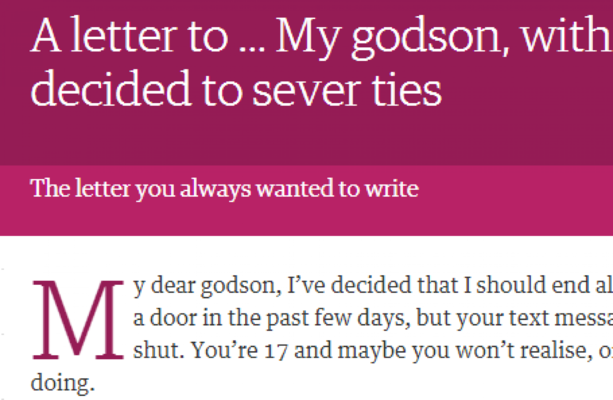 How to write a letter to godson