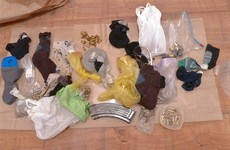 Bomb parts found hidden in socks in dissident raid