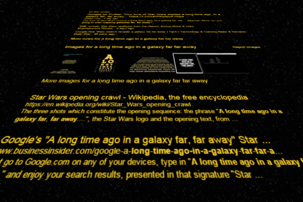 Have You Seen Google S Deadly New Star Wars Easter Egg The Daily Edge