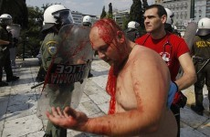 In pictures: Greek citizens protest austerity measures in Athens